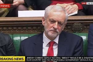 Jeremy Corbyn has been accused of calling Theresa May a 'stupid woman' - still from Sky News