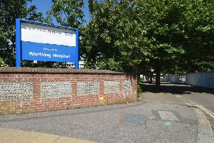 Site shot of Worthing Hospital signs.  Picture: Liz Pearce