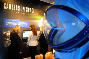 Tim Peake exhibition launch at The Novium, Chichester. Pic Steve Robards  SR1636452 SUS-161220-104829001