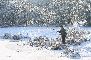 This is an extreme scene but winter does bring big challenges for anglers