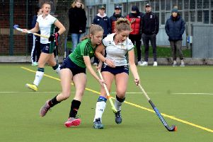 Lottie Greenlees put Chi ladies 2-0 up against leaders Eastbourne / Picture by Kate Shemilt