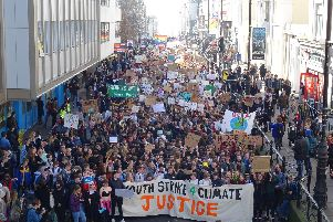 Youth Strike 4 Climate march in Brighton (Photograph: Eddie Mitchell)