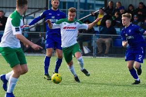 Mason Walsh on the ball at Margate / Picture by Tommy McMillan