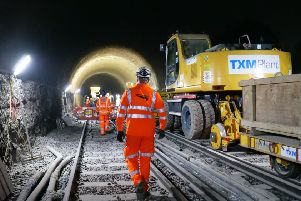 Work on the railway over Easter