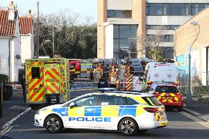 A fire has broken out of a derelict building in School Road