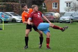 Stedham shield the ball in their win over East Dean / Picture by Kate Shemilt