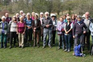 The Ramblers group pictured before they set off on the celebratory walk