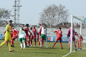 Late pressure paid off for Bognor against Harlow / Picture by Kate Shemilt