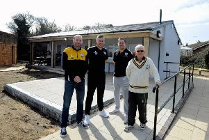 Aldwick CC officials show off their new facilities / Picture by Kate Shemilt