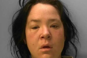 Clare Tasker, 38, has been jailed after pleading guilty to attempting to rob an elderly woman in Brighton. Picture: Sussex Police