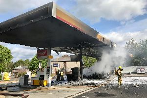 Fire at Shell petrol station in Fontwell