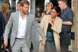 Prince Harry and Meghan announced the arrival of their baby son earlier today (May 6). Picture: Peter Cripps