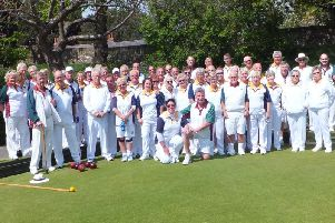 Chichester and Eye's bowlers gather for action / Picture by Les Stewart