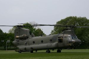 The chinook helicopter. Photo and footage by Sussex By Air