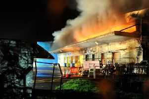 The tip on the night of the fire. Picture by Kate Shemilt