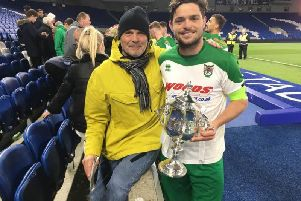 Dallas and Harvey Whyte after the Rocks' latest SSC win