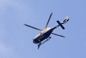 Police helicopter scouring the Billingshurst area