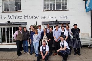 Staff outside The White Horse