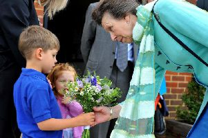 Robert and Adelaide Healey meeting Princess Anne at Magdalene Rise in Bolney. Photo by Steve Robards
