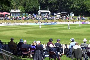 A good crowd watches the first day of the Arundel clash / Picture by Kate Shemilt