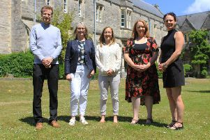 (Left to right) AWF Coordinator Dr Jordan Matthews, IWG co-chair Raewyn Lovett, Research Fellow for Women and Sport Dr Lucy Piggott, IWG Secretary General Rachel Froggatt, and AWF Chair-Elect Dr Suzie Everley who also leads sport social-sciences at the University's Institute of Sport