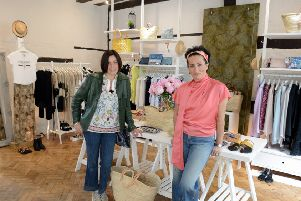 Silvia Allen and Bilsen Bozdag at Sussex House Boutique in Red Lion Street