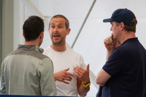 Chi City's management team discuss plans at pre-season training / Picture by Neil Holmes