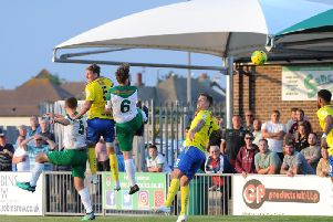 Ed Sanders and Keaton Wood put the Havant defence under pressure in the first half / Picture by Tommy McMillan