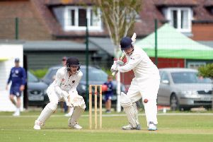 Patrick Colvin batting for Middleton against Preston Nomads / Picture by Kate Shemilt