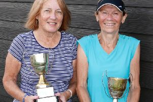 The ladies' doubles winners