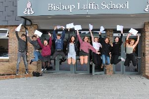 Students jump for joy at their results