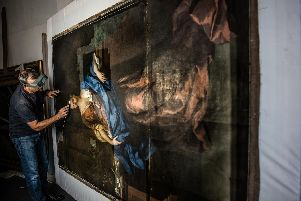 The restoration work. Photo: The National Trust