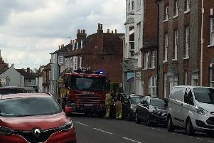 Firefighters are on the scene