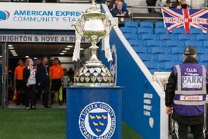 The Sussex Senior Cup trophy. Picture by Chris Neal