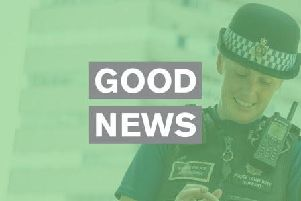 Good news. Picture via Sussex Police