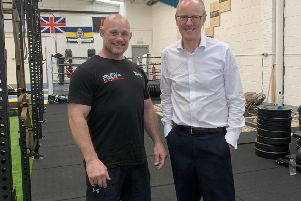 A military functional fitness gym, owned by retired Colour Sergeant Daz Dugan, has been paid a visit by MP Nick Gibb. SUS-190930-132216001