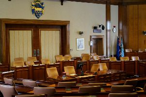 Council chamber at County Hall