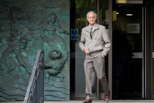 Ian Hemmens, 81, of Bognor Road, Chichester, is on trial at Portsmouth Crown Court accused of assisting an offender charged with attempted murder.  Picture: (160919-7449) PPP-190916-122829003