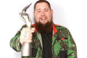 Sussex artist Rag n Bone Man. Photo courtest of the Brits Awards