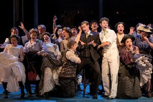 Charlie Stemp and the company when Half a Sixpence was at Chichester. Picture by Manuel Harlan