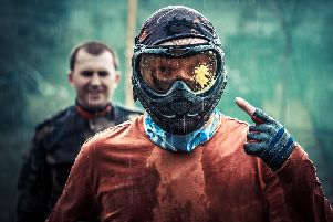 Would you volunteer to be a human paintball target?