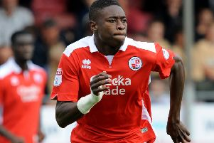 Crawley FC v Notts County Fc. Ibrahim Meite. Pic Steve Robards SR1723074 SUS-170916-160311001
