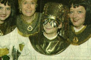 Kate Mahon, Josephine Rich, Ashley Mahon and Pauline Mahon at the Burgess Hill Bonfire in 2001