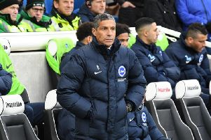 Brighton & Hove Albion manager Chris Hughton watches on against Burnley. Picture by PW Sporting Pics