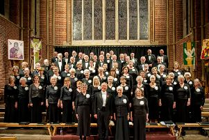 Ardingly Choral Society with Robert Hammersley and Shirley Ventham (on his left). Picture by Melvyn Walmsley