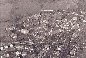 An aerial view of the old Cuckfield Workhouse/Hospital plus the barracks used during the war years.