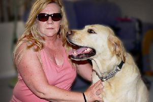 Dawn Penney and her guide dog Wallace