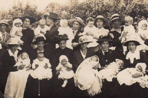 Baby show during World War One