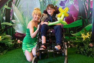 Tinkerbell was a special guest at the Chestnut Tree House Disney party