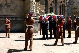 The gun salute at Danny Johnston's funeral
